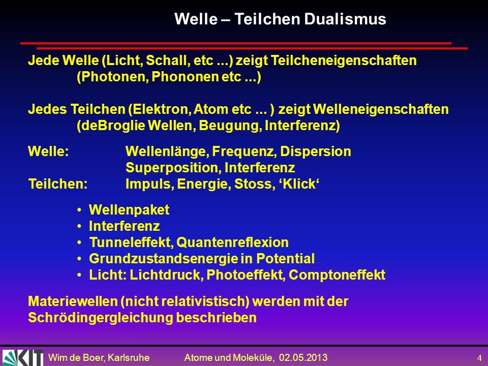 Welle – Teilchen Dualismus
