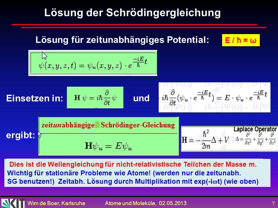 Lösung der Schrödingergleichung