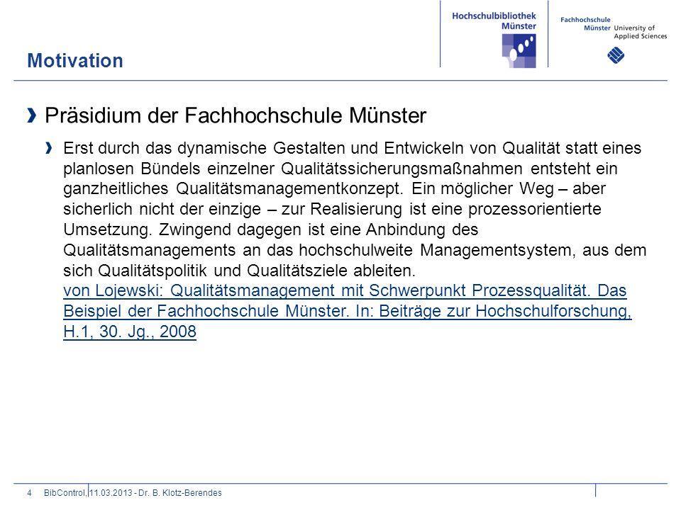 Präsidium der Fachhochschule Münster