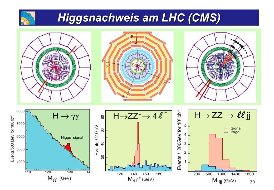 Higgs -> 2 Photonen Elektromagnetisches Kalorimeter