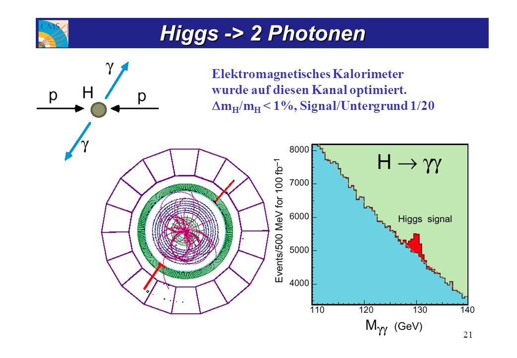 Higgs -> ZZ, ZZ* Nachweis beruht auf ausgezeichnetem