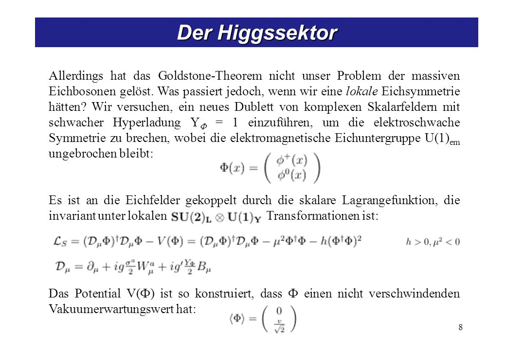 Higgs-Kibble-Mechanismus