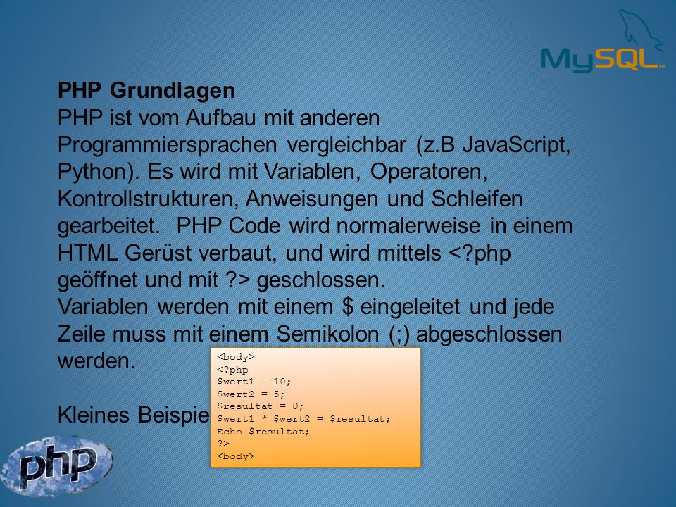 PHP Grundlagen