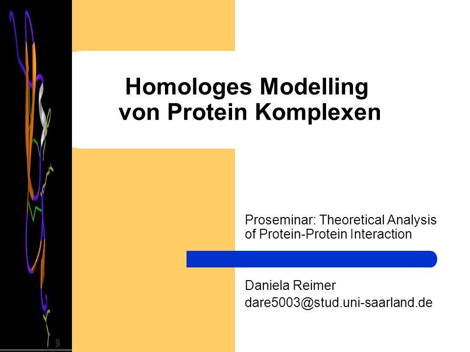 Homologes Modelling von Protein Komplexen