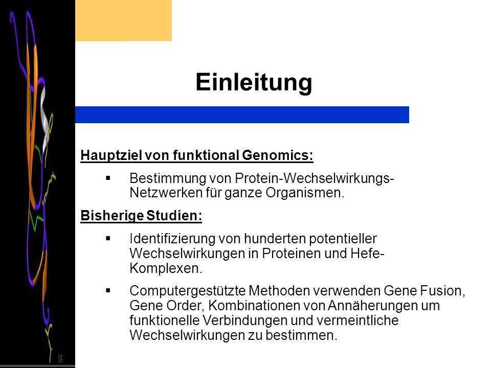 Einleitung Hauptziel von funktional Genomics: