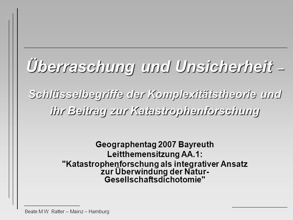 Geographentag 2007 Bayreuth Leitthemensitzung AA.1: