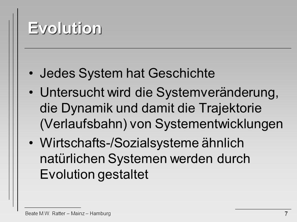 Evolution Jedes System hat Geschichte