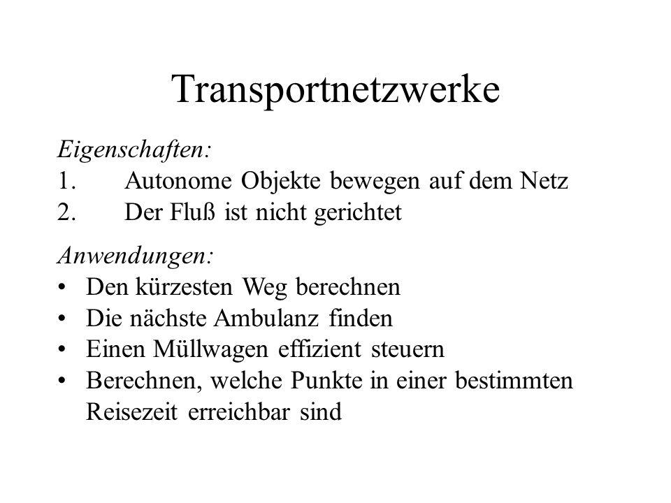 Transportnetzwerke Eigenschaften: