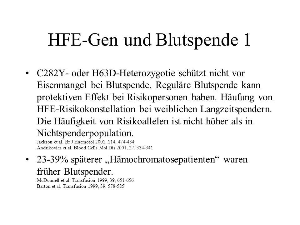 HFE-Gen und Blutspende 1