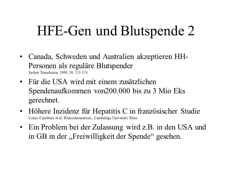 HFE-Gen und Blutspende 2