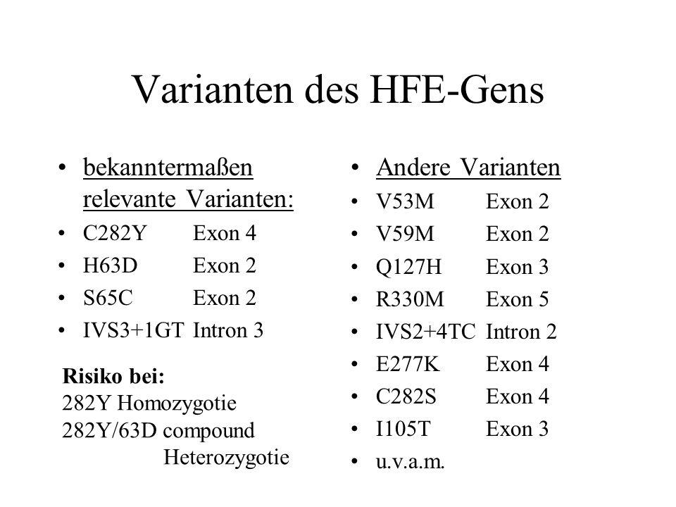 Varianten des HFE-Gens