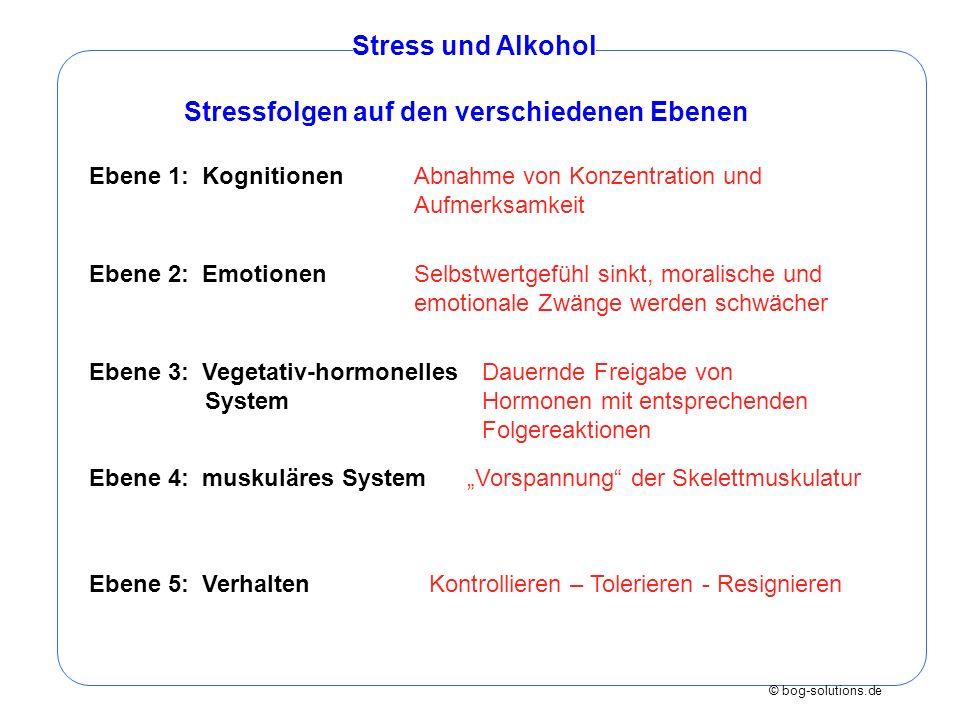 Stressfolgen auf den verschiedenen Ebenen