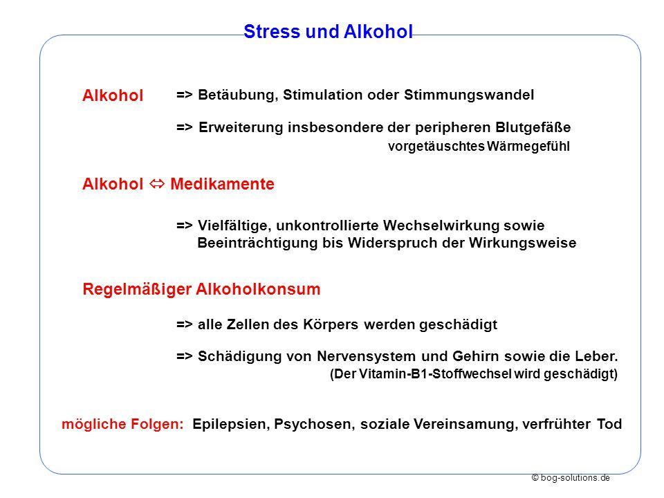 Stress und Alkohol Alkohol Alkohol  Medikamente