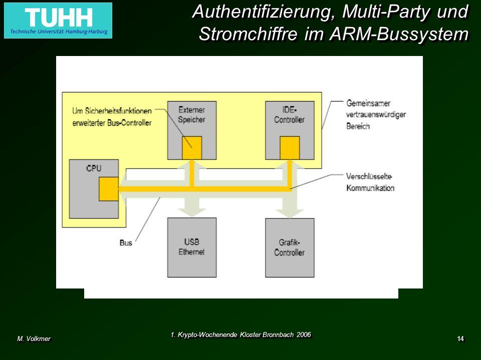 Authentifizierung, Multi-Party und Stromchiffre im ARM-Bussystem
