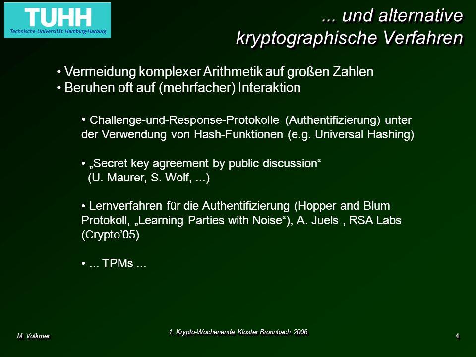 ... und alternative kryptographische Verfahren