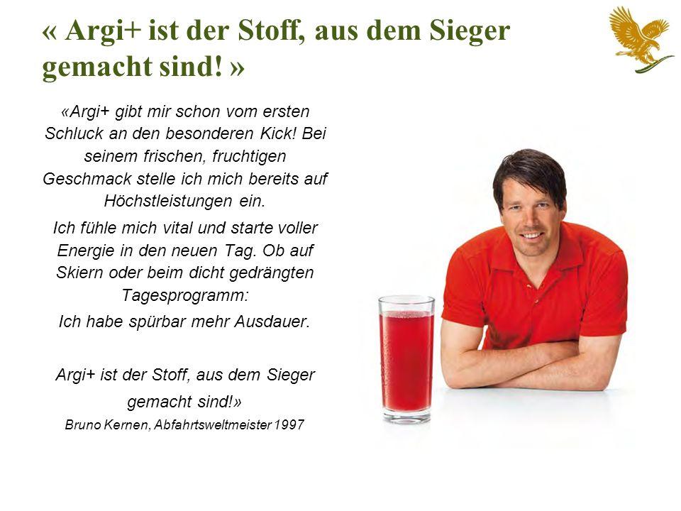 « Argi+ ist der Stoff, aus dem Sieger gemacht sind! »