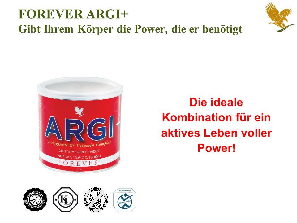 FOREVER ARGI+ Gibt Ihrem Körper die Power, die er benötigt