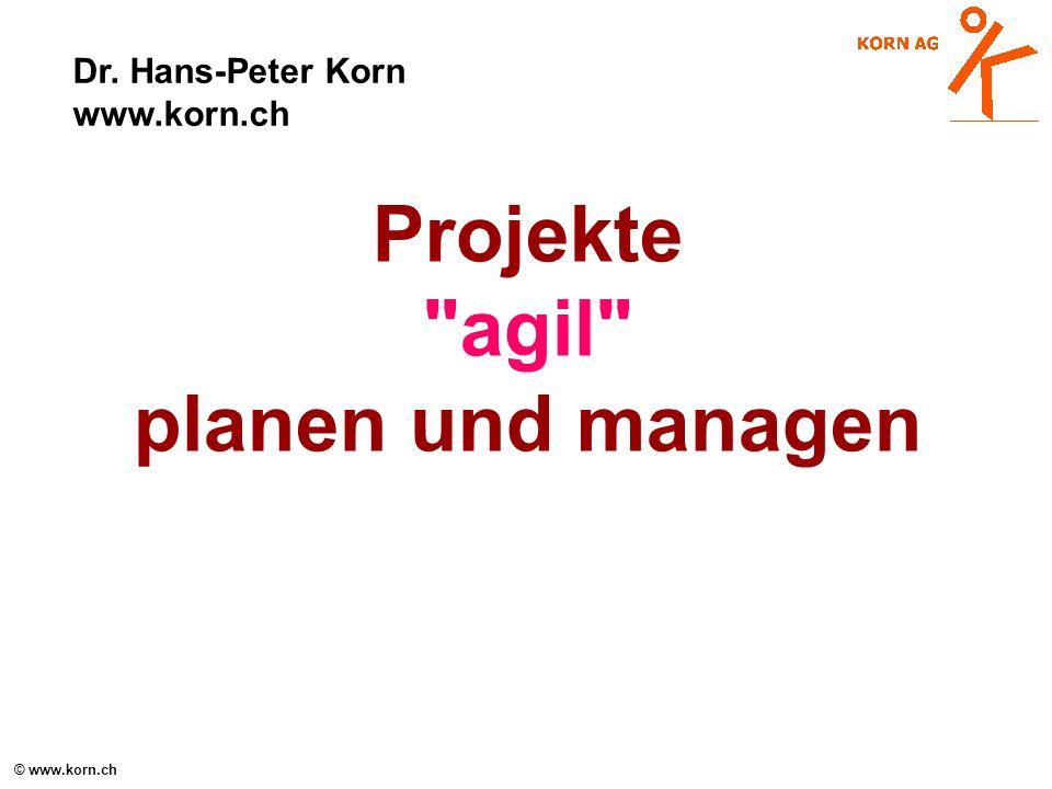 Projekte agil planen und managen