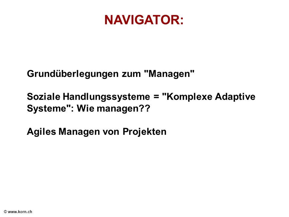 NAVIGATOR: Grundüberlegungen zum Managen