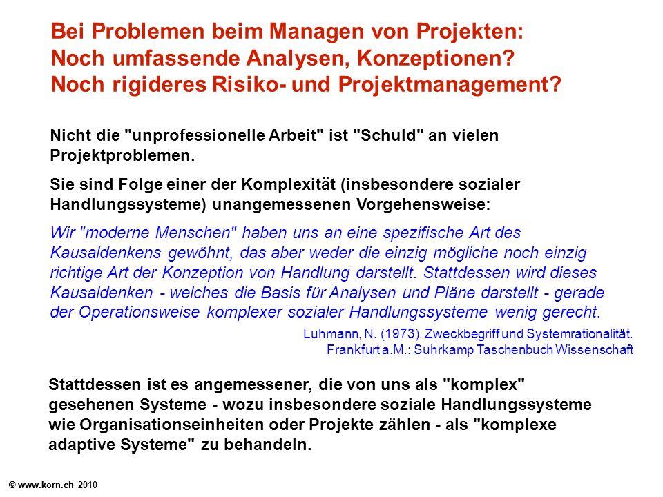 Bei Problemen beim Managen von Projekten: