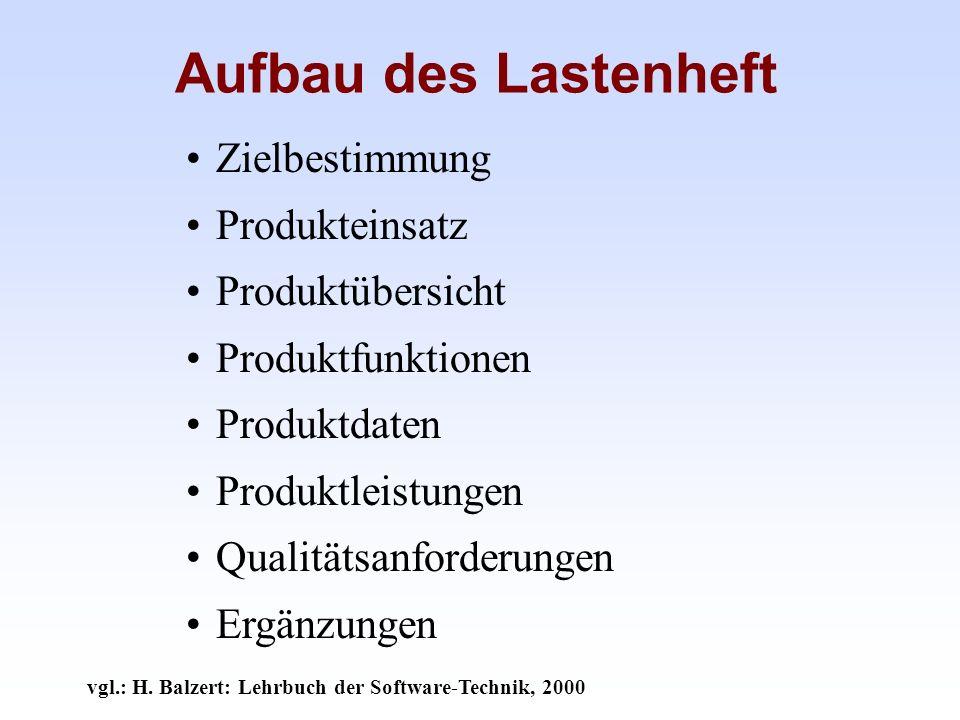 vgl.: H. Balzert: Lehrbuch der Software-Technik, 2000
