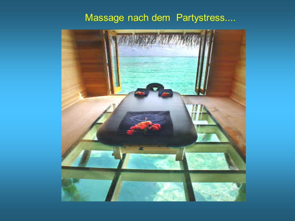 Massage nach dem Partystress....