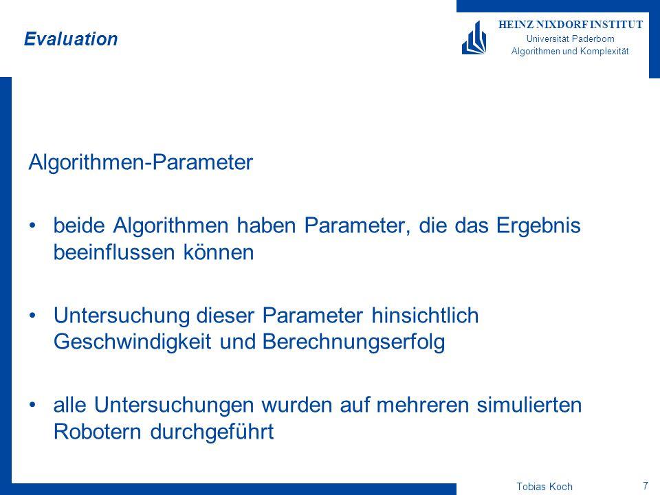 Algorithmen-Parameter