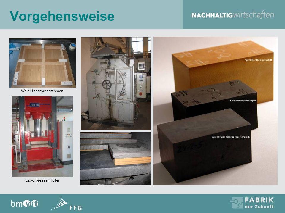 Vorgehensweise Weichfaserpressrahmen Laborpresse: Höfer