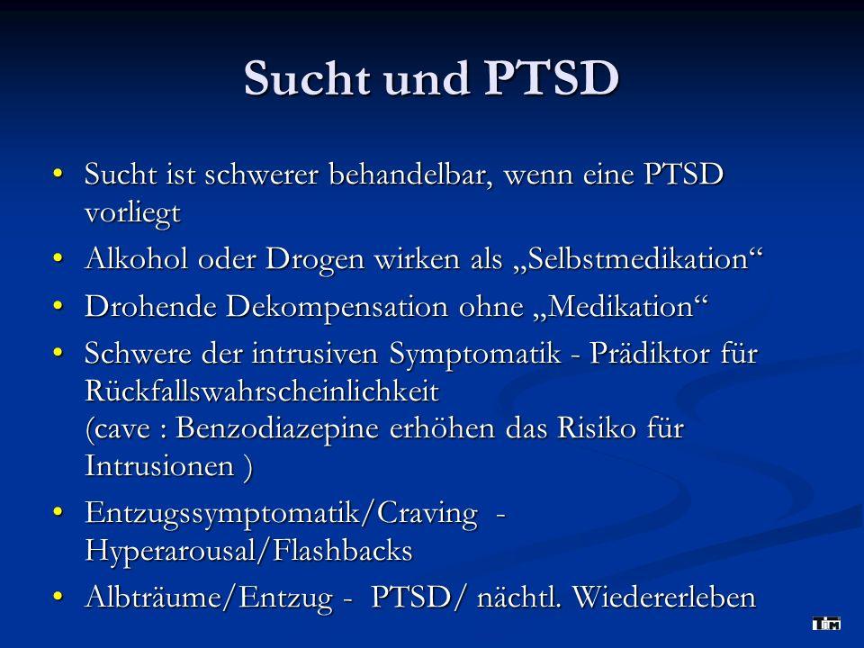 Sucht und PTSD Sucht ist schwerer behandelbar, wenn eine PTSD vorliegt