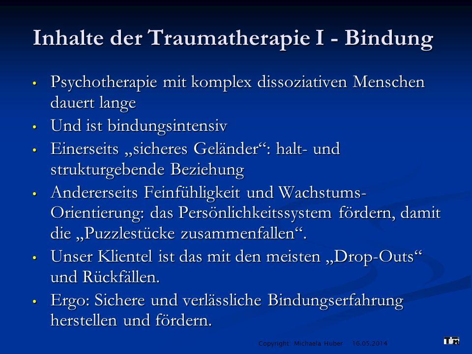 Inhalte der Traumatherapie I - Bindung