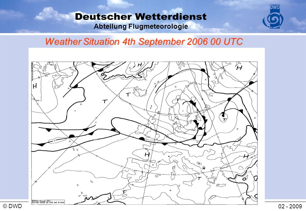 Weather Situation 4th September UTC