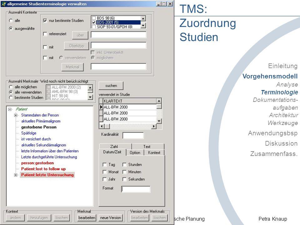 TMS: Zuordnung Studien