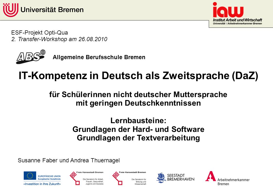 IT-Kompetenz in Deutsch als Zweitsprache (DaZ)