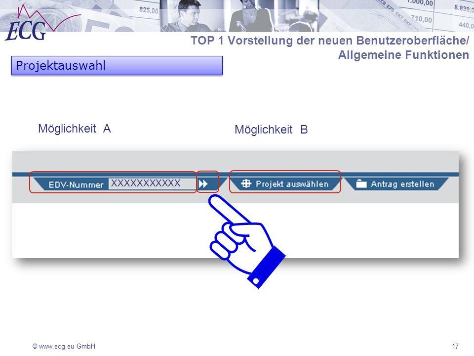 TOP 1 Vorstellung der neuen Benutzeroberfläche/ Allgemeine Funktionen