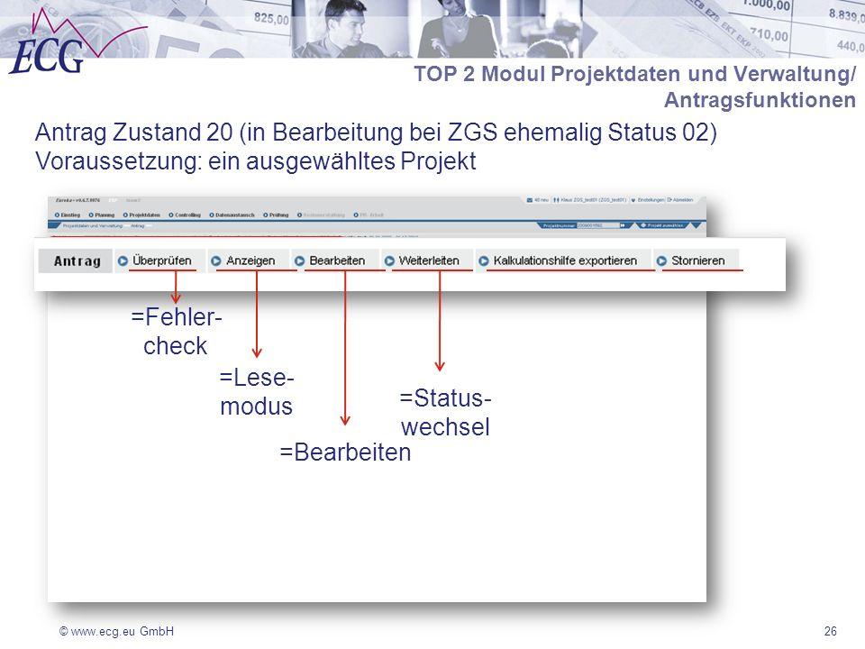Antrag Zustand 20 (in Bearbeitung bei ZGS ehemalig Status 02)