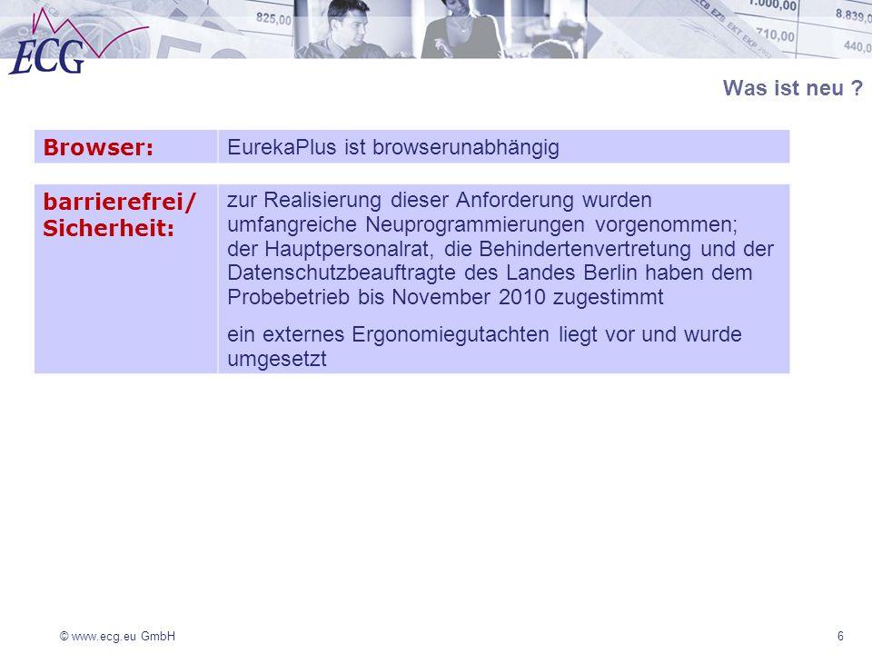 EurekaPlus ist browserunabhängig barrierefrei/ Sicherheit: