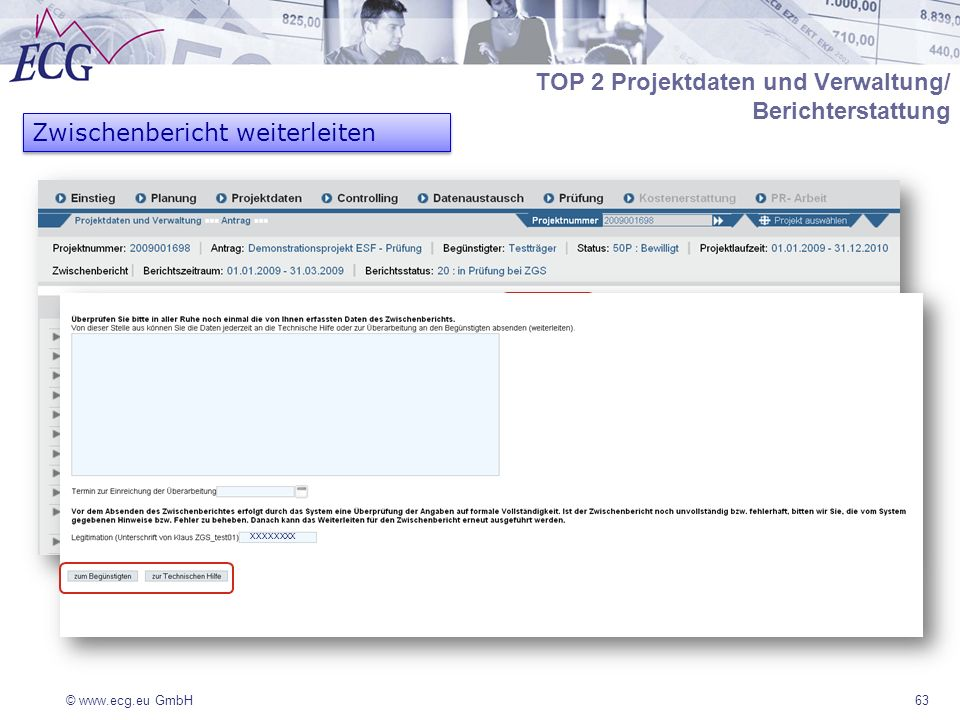 TOP 2 Projektdaten und Verwaltung/ Berichterstattung