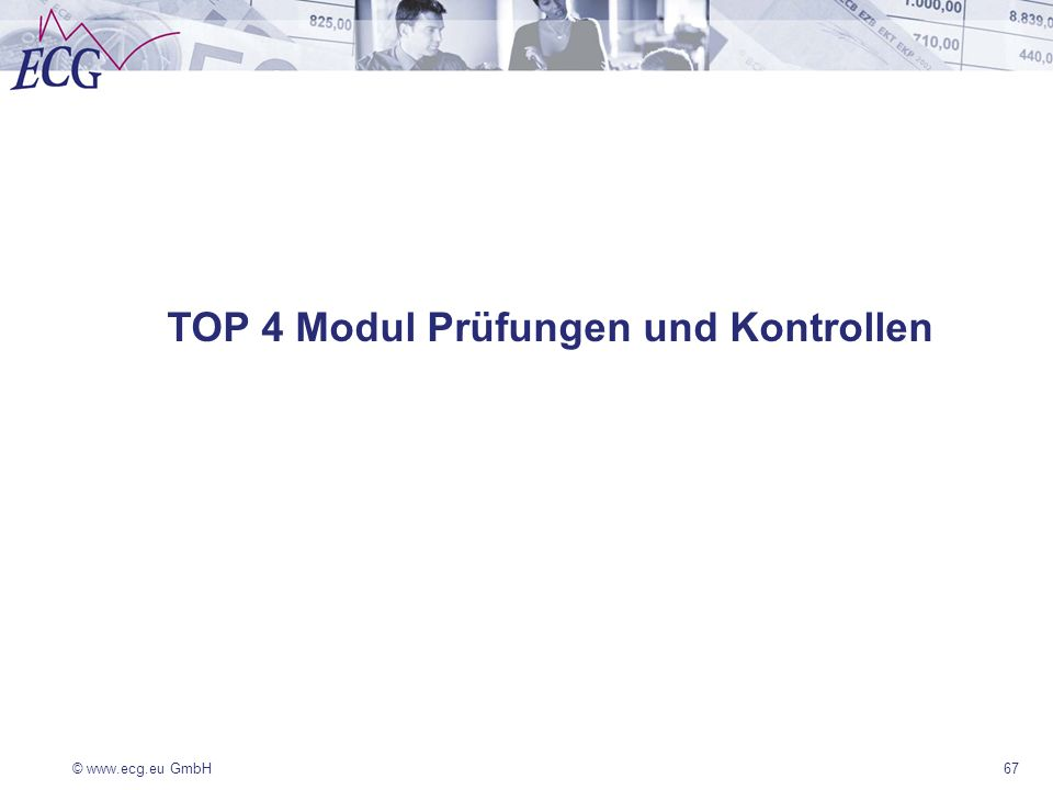 TOP 4 Modul Prüfungen und Kontrollen