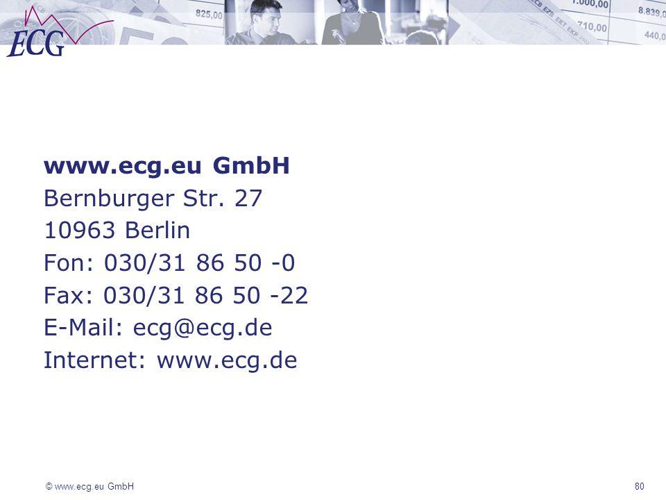 www.ecg.eu GmbH Bernburger Str. 27 10963 Berlin Fon: 030/31 86 50 -0