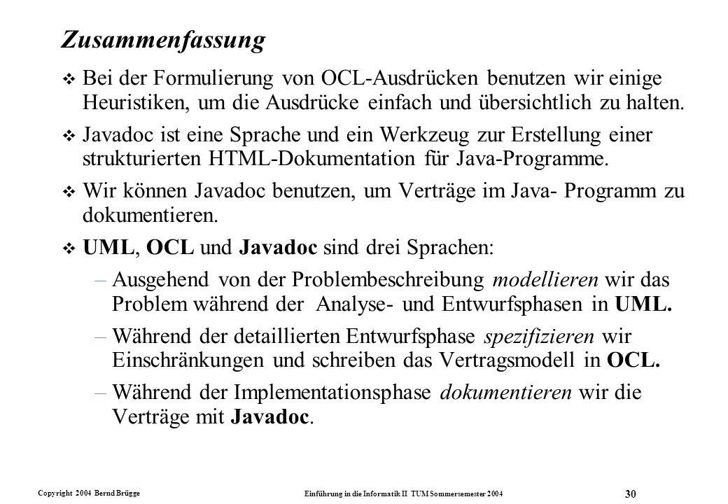 Info II Sommersemester 2001