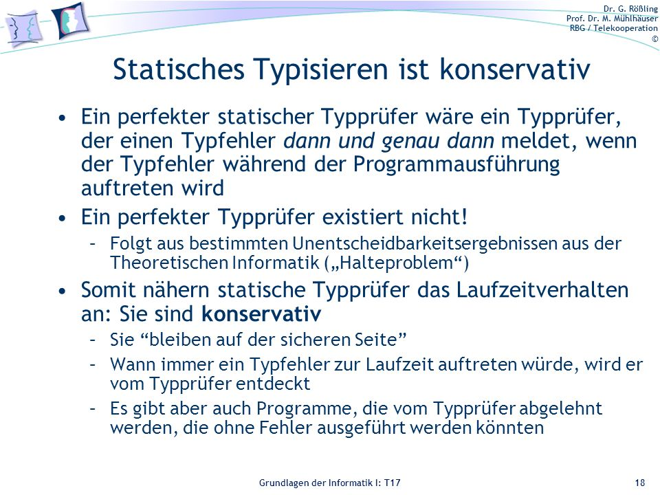 Statisches Typisieren ist konservativ