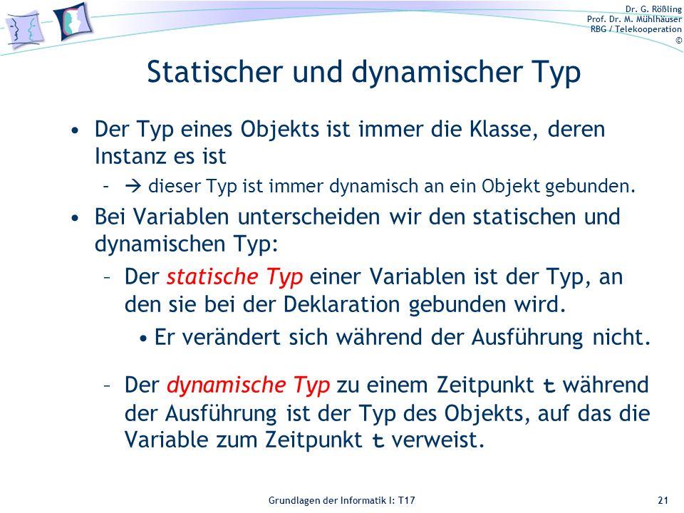 Statischer und dynamischer Typ