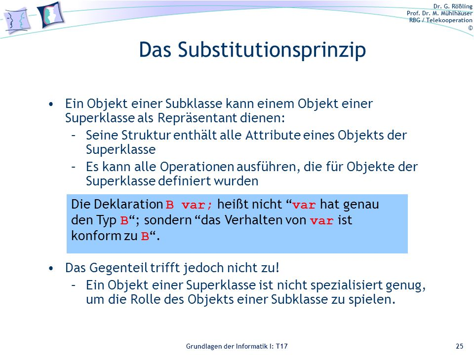 Das Substitutionsprinzip