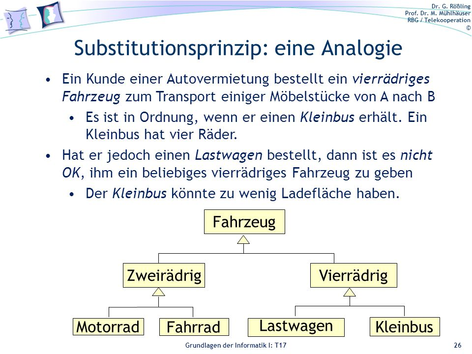 Substitutionsprinzip: eine Analogie