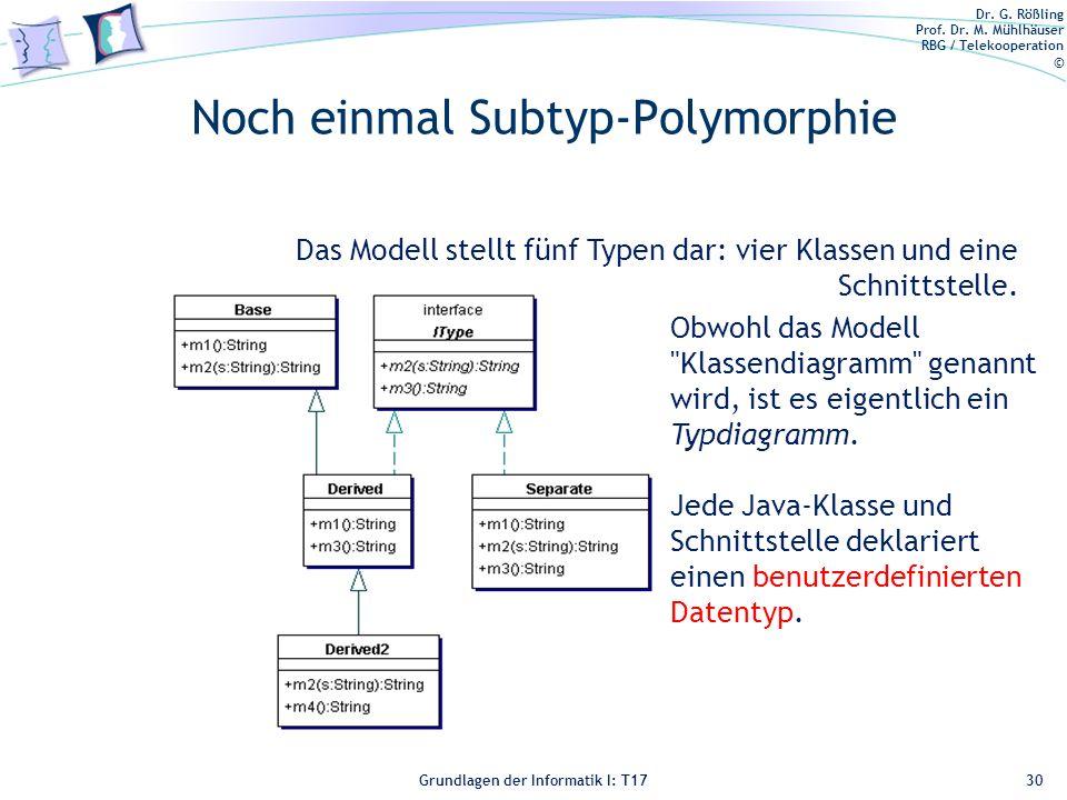 Noch einmal Subtyp-Polymorphie