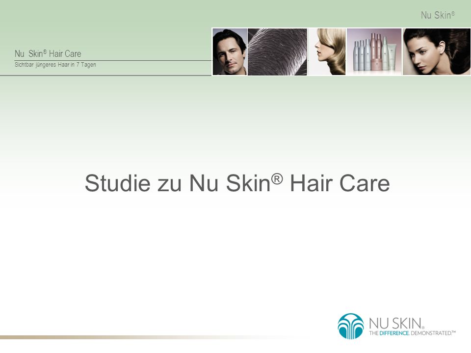 Studie zu Nu Skin® Hair Care