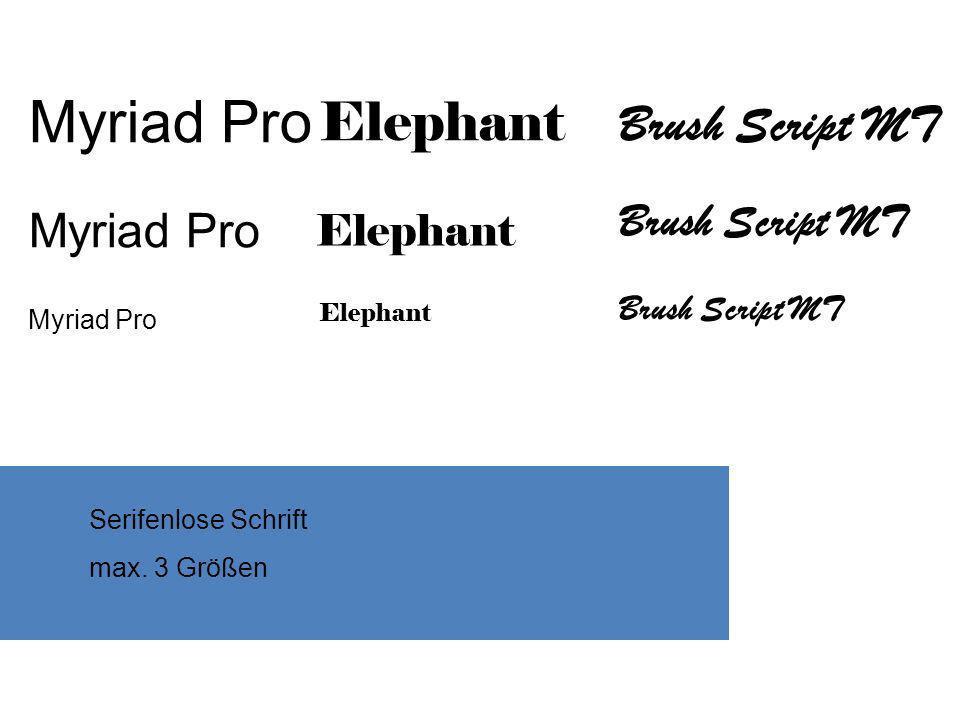 Myriad Pro Elephant Brush Script MT Brush Script MT Elephant