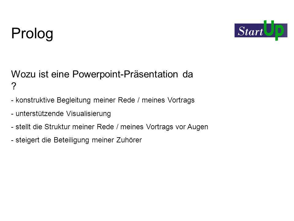 Prolog Wozu ist eine Powerpoint-Präsentation da
