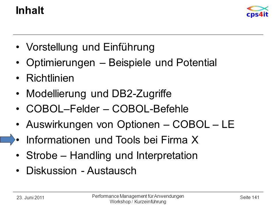 Vorstellung und Einführung Optimierungen – Beispiele und Potential