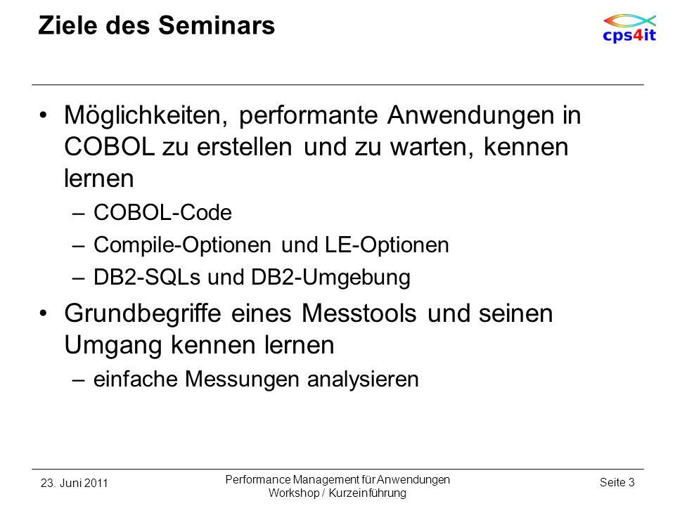 Performance Management für Anwendungen Workshop / Kurzeinführung